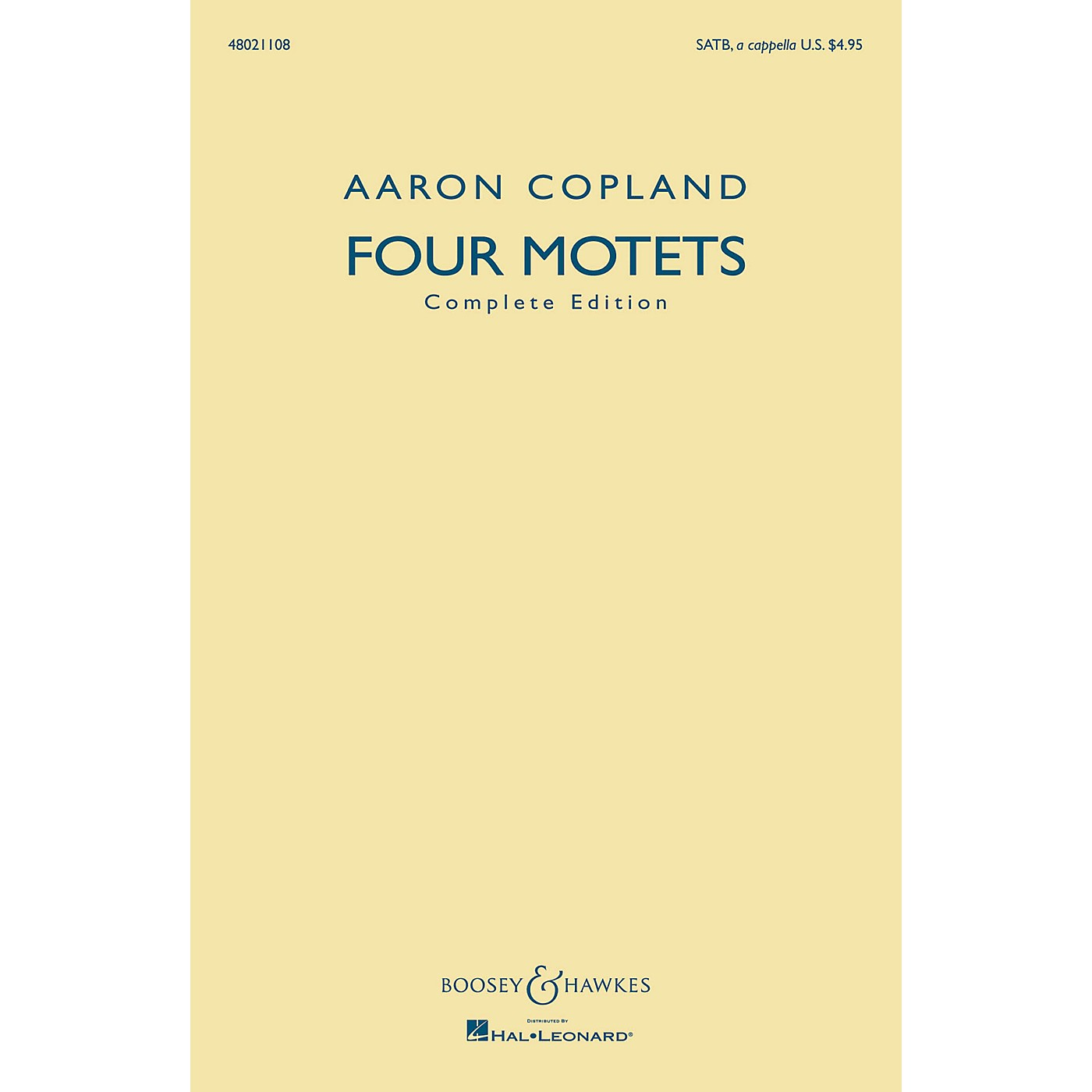 Boosey and Hawkes Four Motets (Complete Edition) SATB a cappella composed by Aaron Copland thumbnail