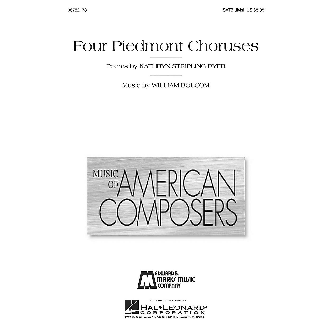 Hal Leonard Four Piedmont Choruses SATB Divisi composed by William Bolcom thumbnail