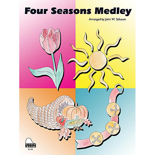 SCHAUM Four Seasons Medley Educational Piano Series Softcover thumbnail