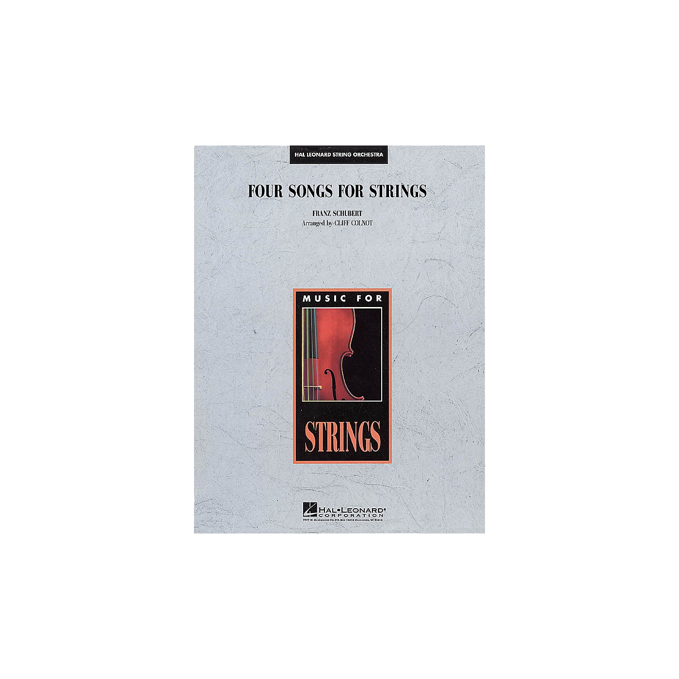 Edward B. Marks Music Company Four Songs for Strings Music for String Orchestra Series Arranged by Cliff Colnot thumbnail