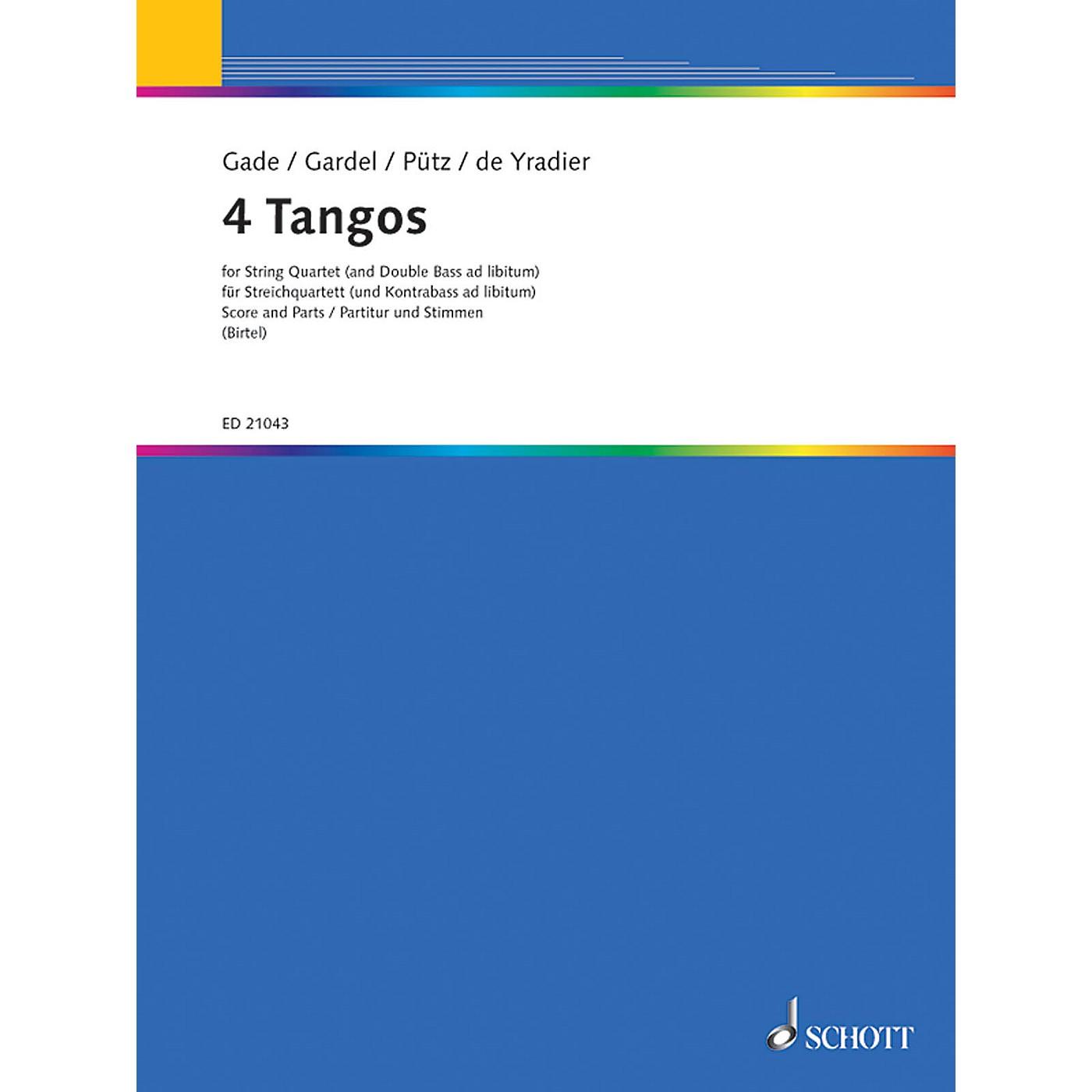 Schott Four Tangos Schott Series Composed by Various Arranged by Wolfgang Birtel thumbnail