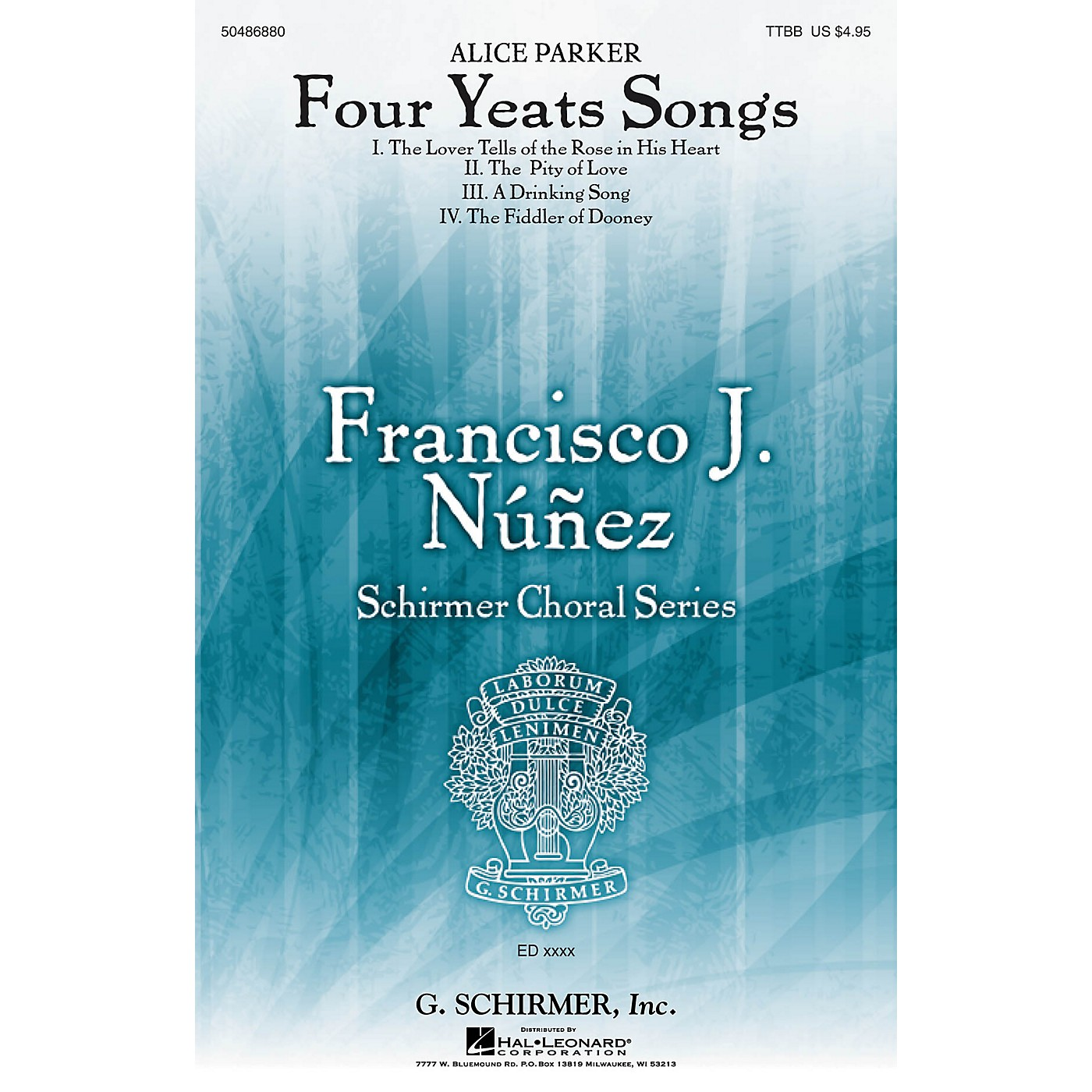 G. Schirmer Four Yeats Songs (Francisco Núñez Choral Series) TTBB composed by Alice Parker thumbnail