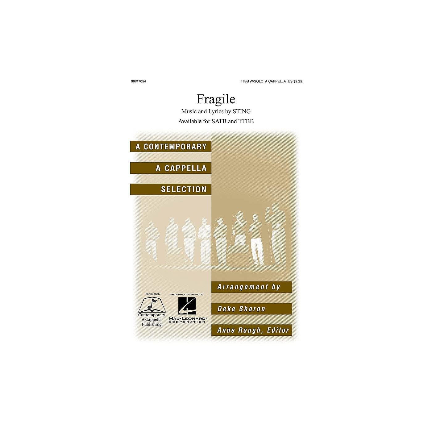 Hal Leonard Fragile TTBB Div A Cappella by Sting arranged by Deke Sharon thumbnail