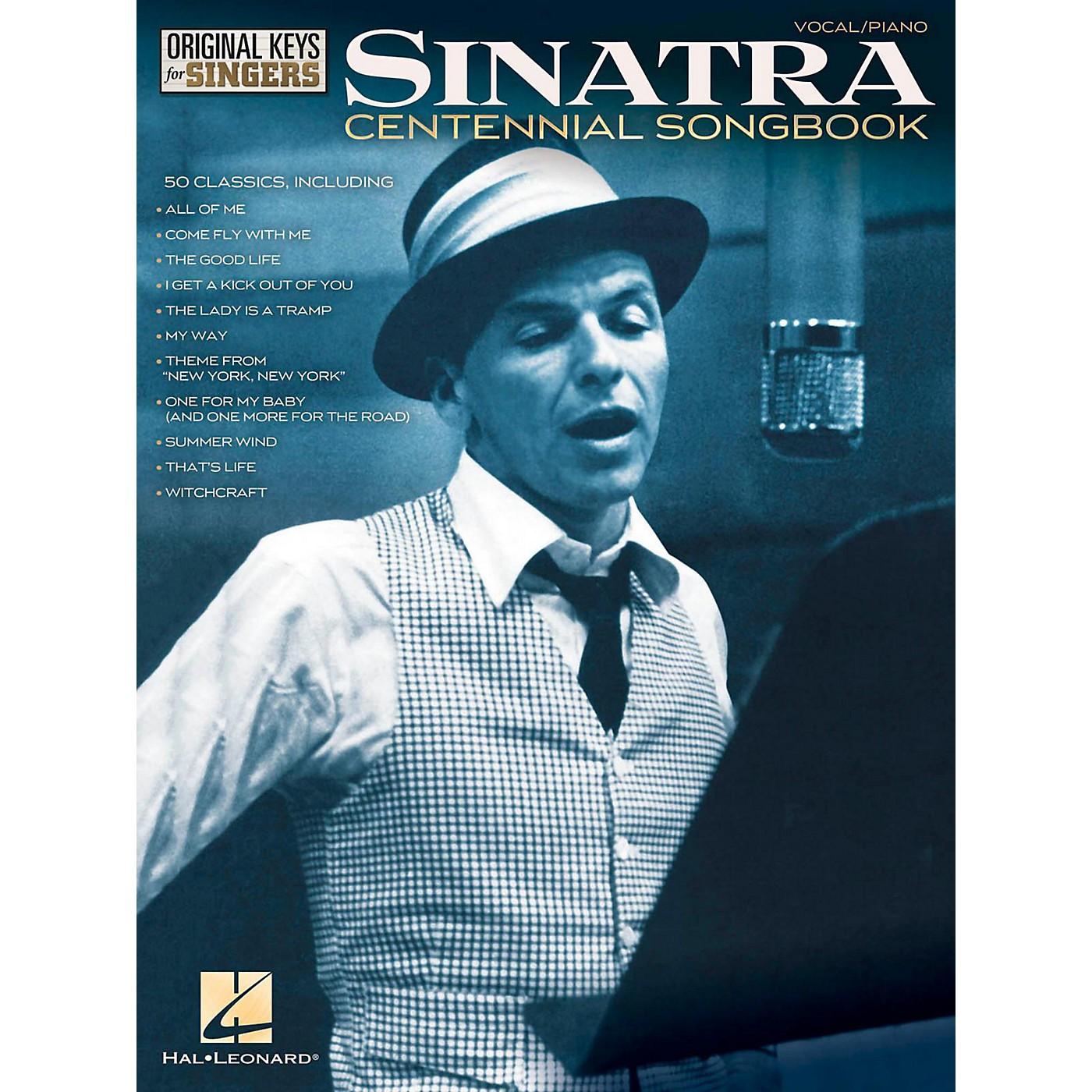 Hal Leonard Frank Sinatra Centennial Songbook - Original Keys For Singers thumbnail