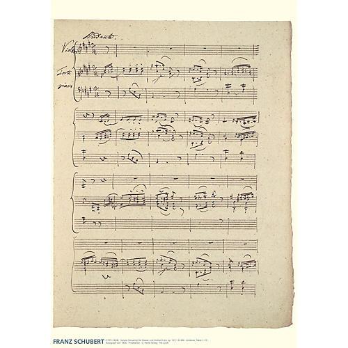Hal Leonard Franz Schubert Music Manuscript Poster Henle Music Folios Series by Franz Schubert thumbnail