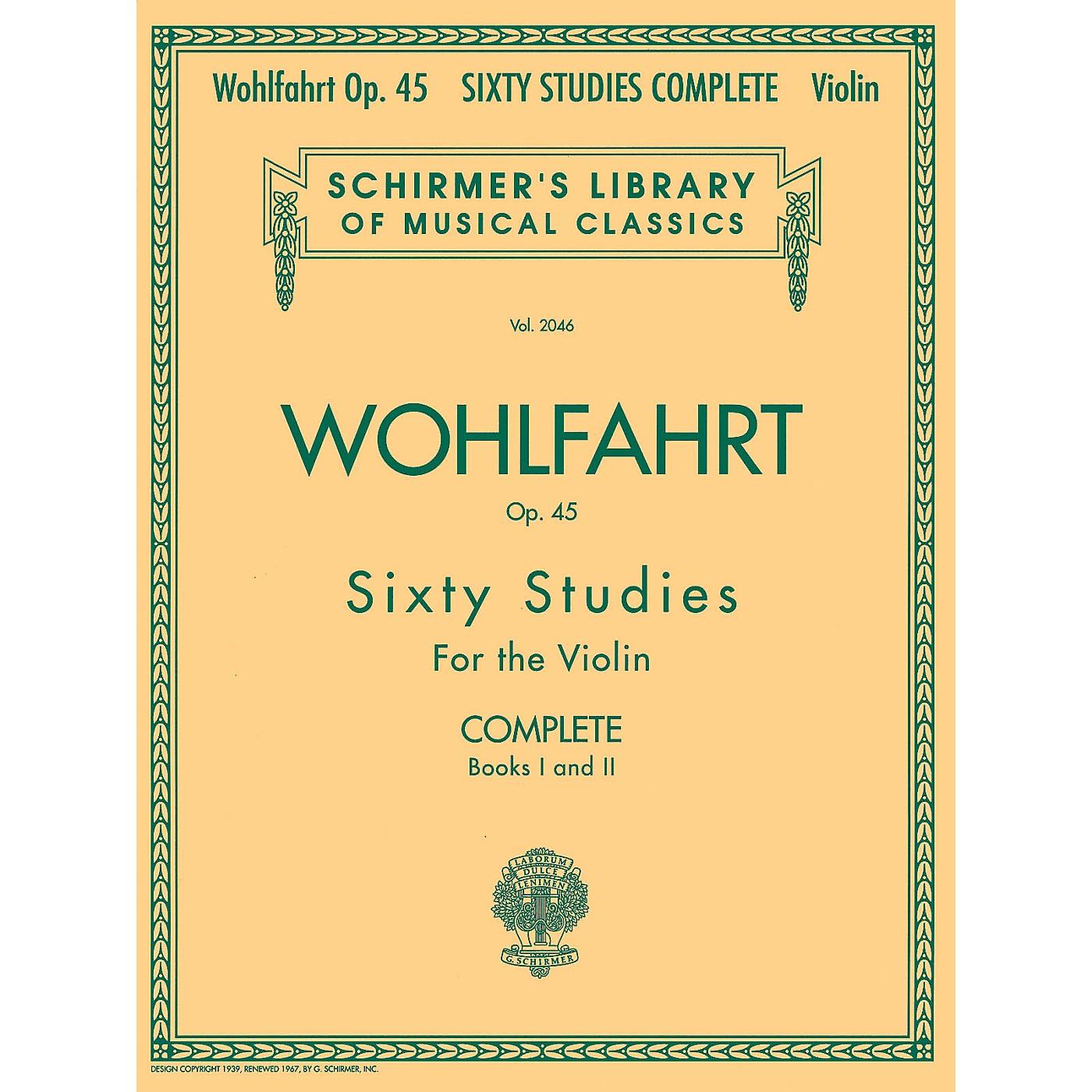G. Schirmer Franz Wohlfahrt - 60 Studies, Op. 45 Complete (Books 1 and 2 for Violin) String Series by Franz Wohlfahrt thumbnail