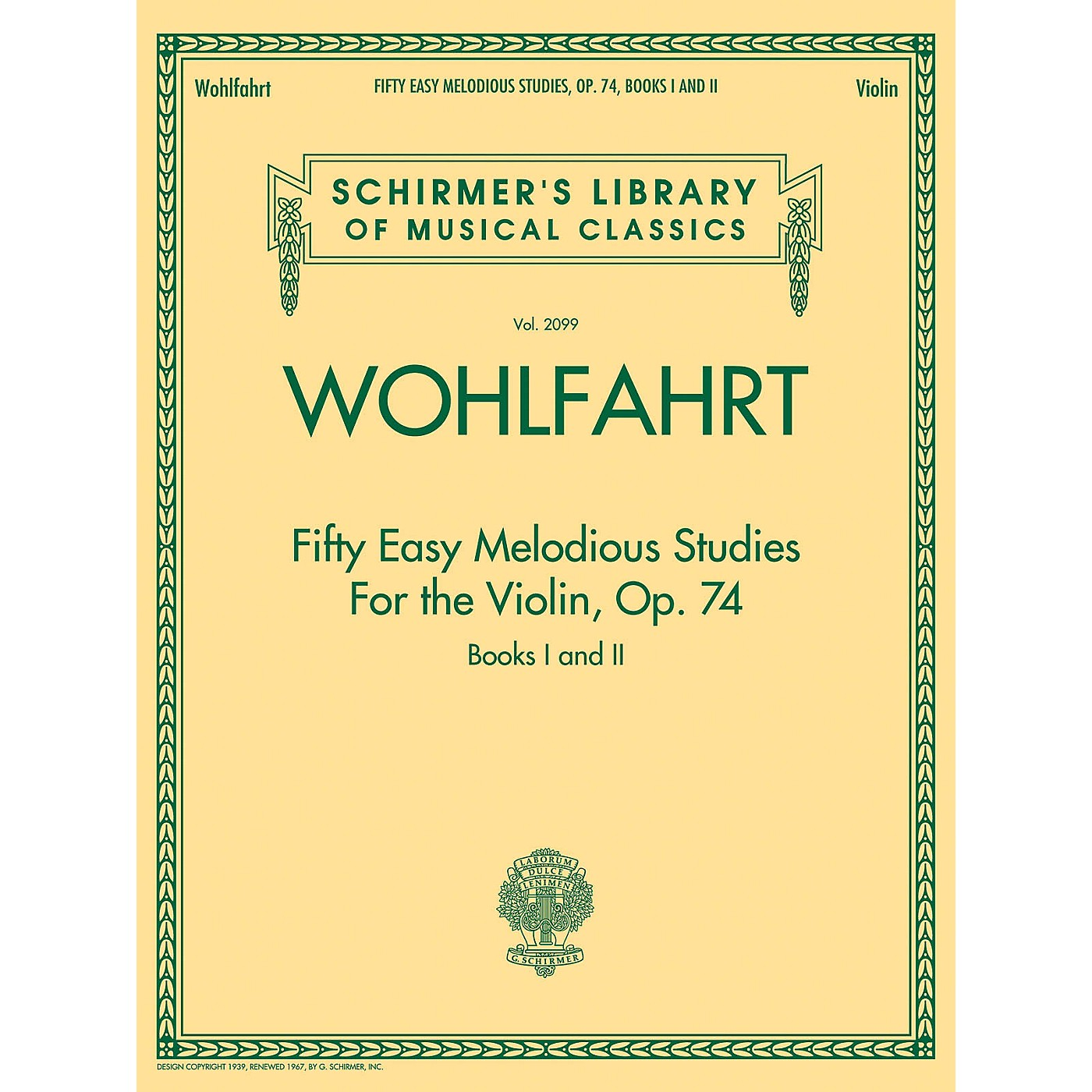 G. Schirmer Franz Wohlfahrt - Fifty Easy Melodious Studies for the Violin, Op. 74, Books 1 and 2 String Method thumbnail