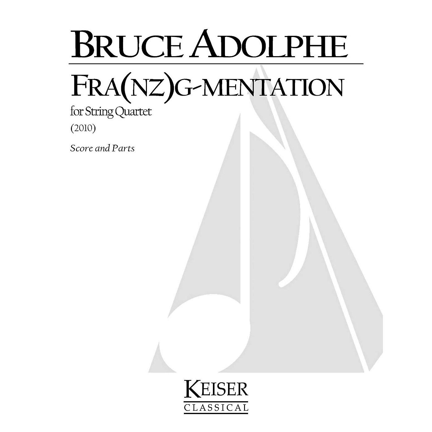 Lauren Keiser Music Publishing Fra(nz)g-mentation (String Quartet) LKM Music Series Composed by Bruce Adolphe thumbnail