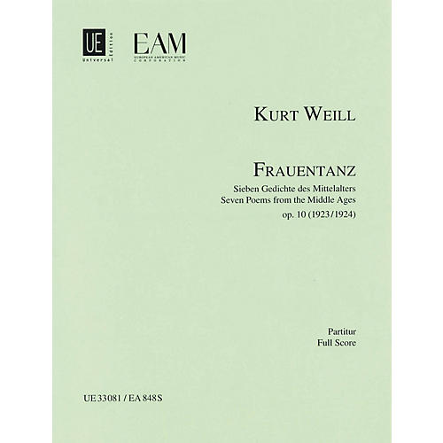 Universal Edition Frauentanz, Op. 10 (Seven Poems from the Middle Ages) Score Series Composed by Kurt Weill thumbnail