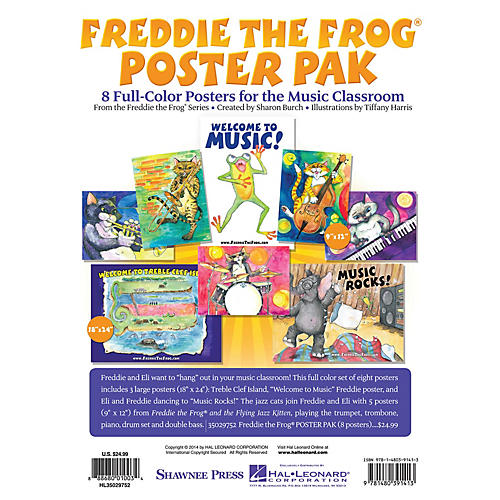 Shawnee Press Freddie the Frog Poster Pak POSTER PAK by Tiffany Harris Composed by Sharon Burch thumbnail