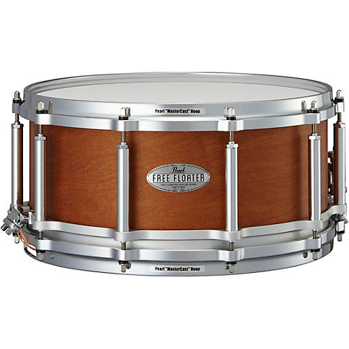 Pearl Free Floating Mahogany/Maple Snare Drum thumbnail