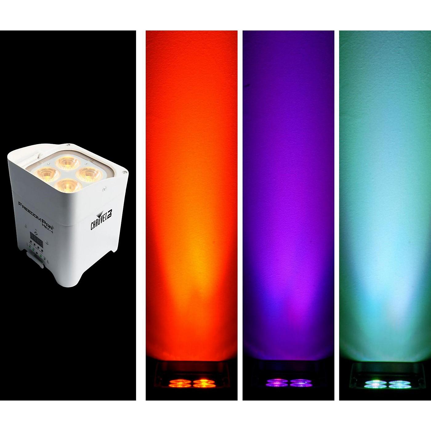 CHAUVET DJ Freedom Par Hex-4 Battery-Powered/Wireless RGBAW+UV LED Par Wash Light - White thumbnail