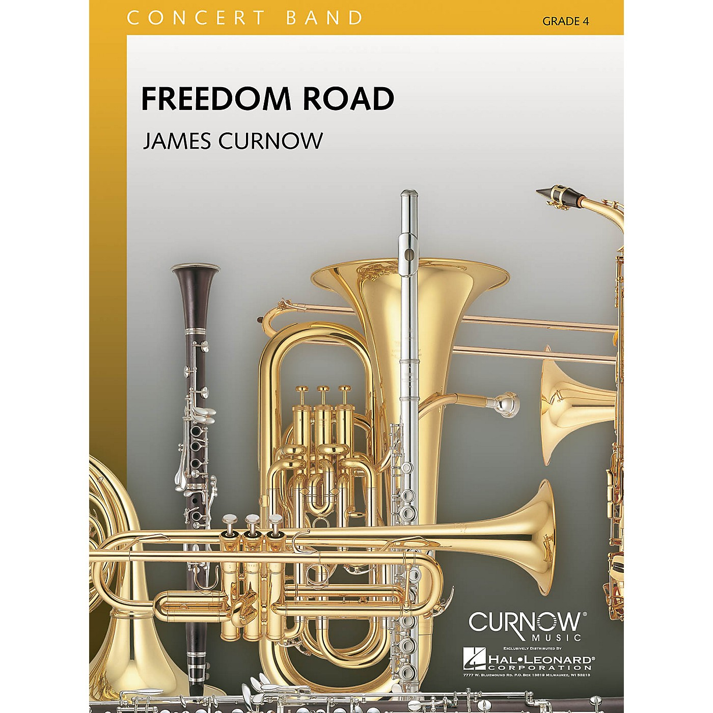 Curnow Music Freedom Road (Grade 4 - Score Only) Concert Band Level 4 Composed by James Curnow thumbnail