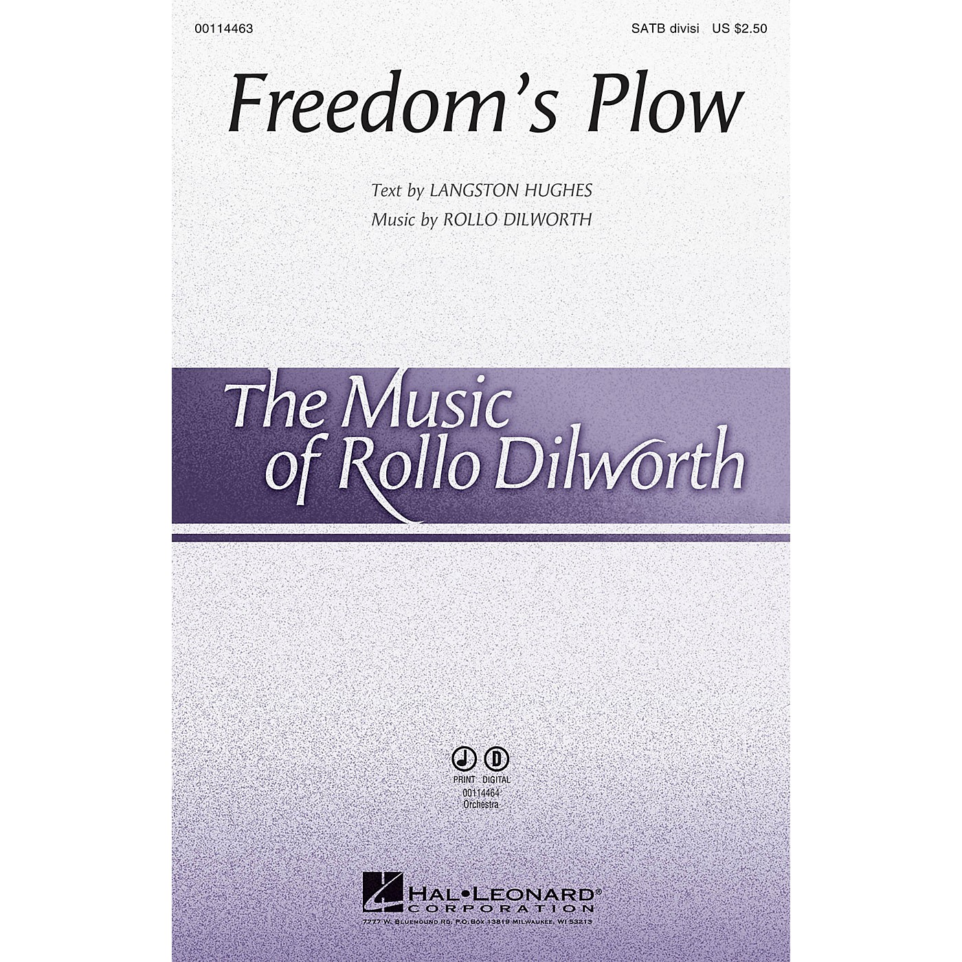 Hal Leonard Freedom's Plow ORCHESTRA SCORE AND PARTS Composed by Rollo Dilworth thumbnail