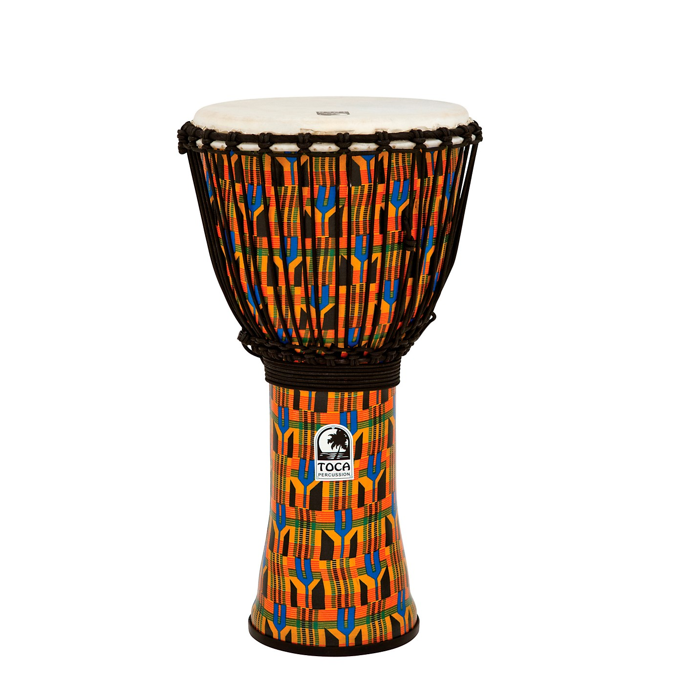 Toca 12 In  Freestyle Kente Cloth Rope Tuned Djembe