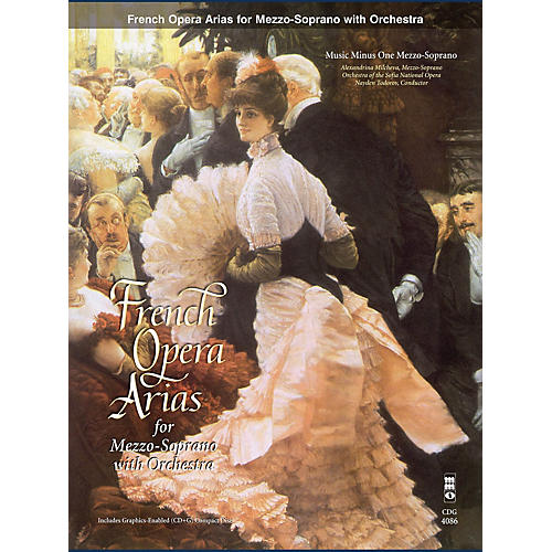 Music Minus One French Arias for Mezzo Soprano and Orchestra Music Minus One Series Softcover with CD  by Various thumbnail