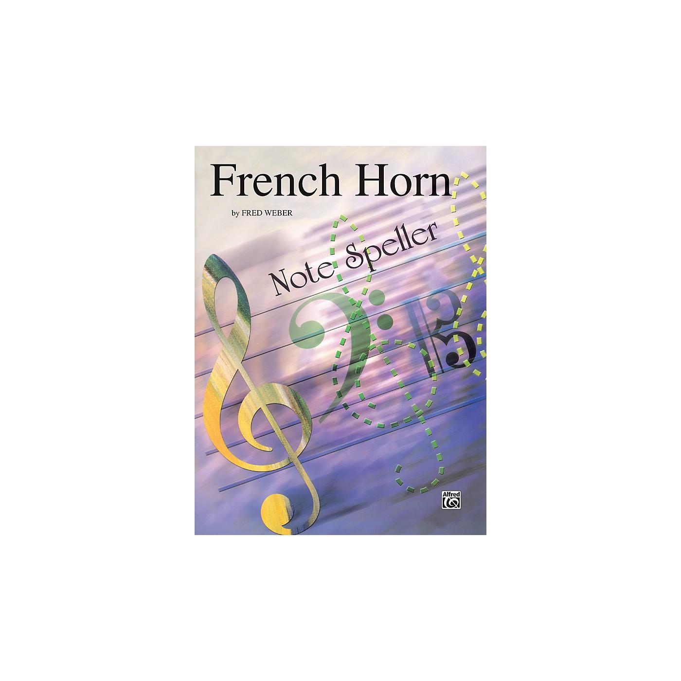 Alfred French Horn Note Speller French Horn thumbnail
