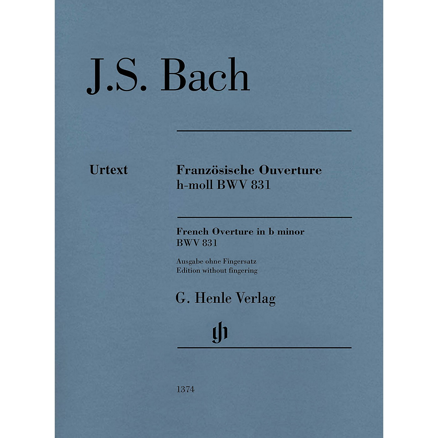 G. Henle Verlag French Overture in B Minor BWV 831 Henle Music Folios Softcover by Bach Edited by Rudolf Steglich thumbnail