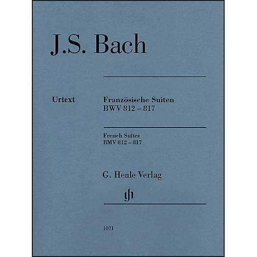 G. Henle Verlag French Suites BWV 812-817 without Fingering By Bach / Steglich thumbnail