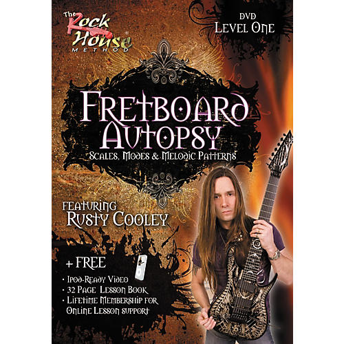 Rock House Fretboard Autopsy - Scales, Modes & Melodic Patterns, Level 1 Featuring Rusty Cooley DVD-thumbnail