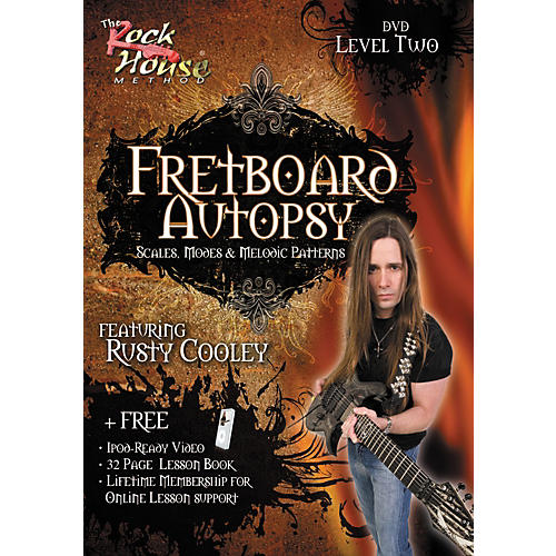 Hal Leonard Fretboard Autopsy - Scales, Modes & Melodic Patterns, Level 2 Featuring Rusty Cooley (DVD) thumbnail