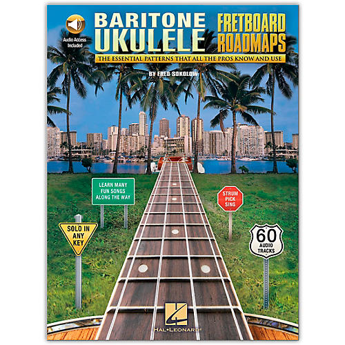 Hal Leonard Fretboard Roadmaps - Baritone Ukulele The Essential Patterns That All the Pros Know and Use (Book/Audio) thumbnail