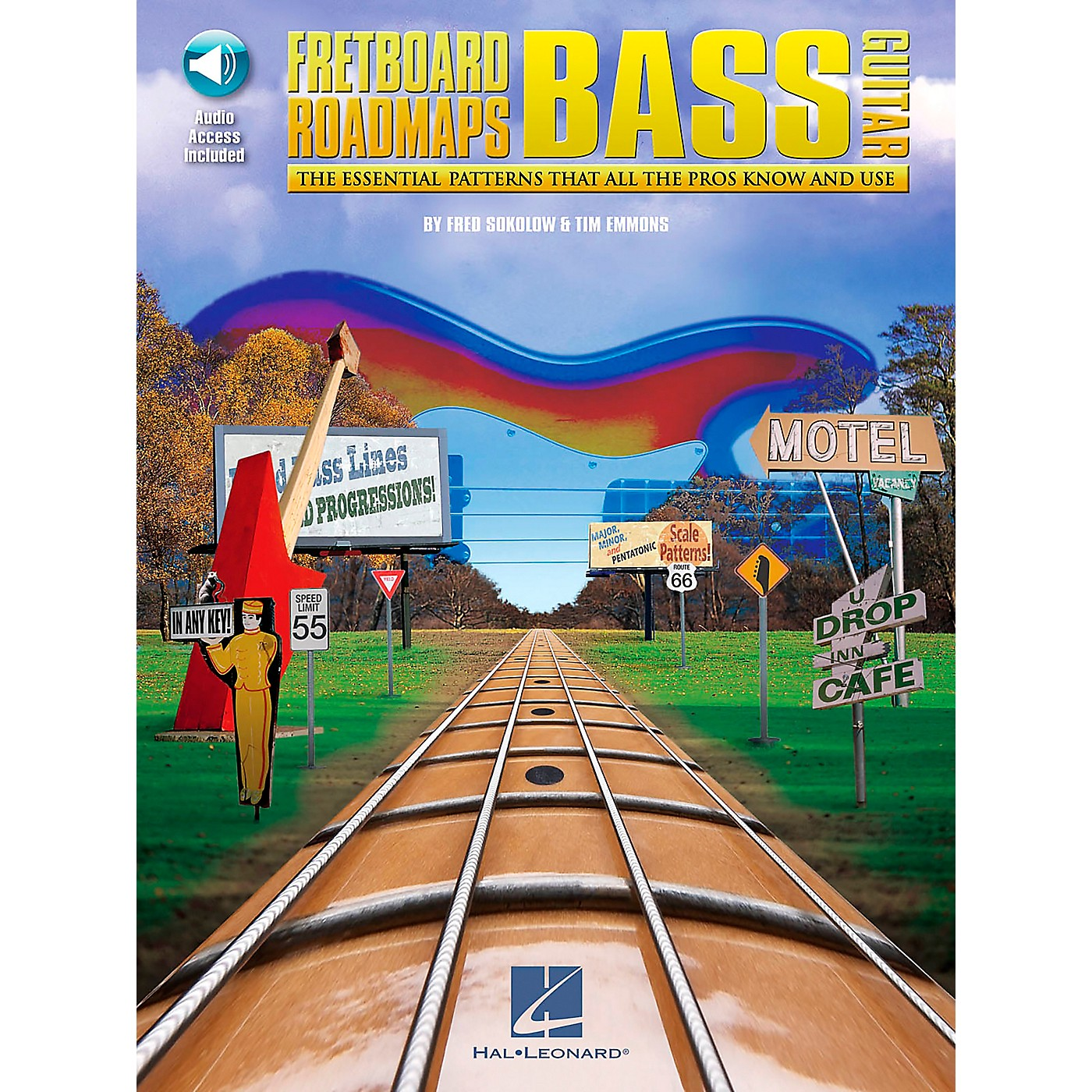 Hal Leonard Fretboard Roadmaps - Bass - The Essential Patterns That All the Pros Know and Use (Book/CD) thumbnail