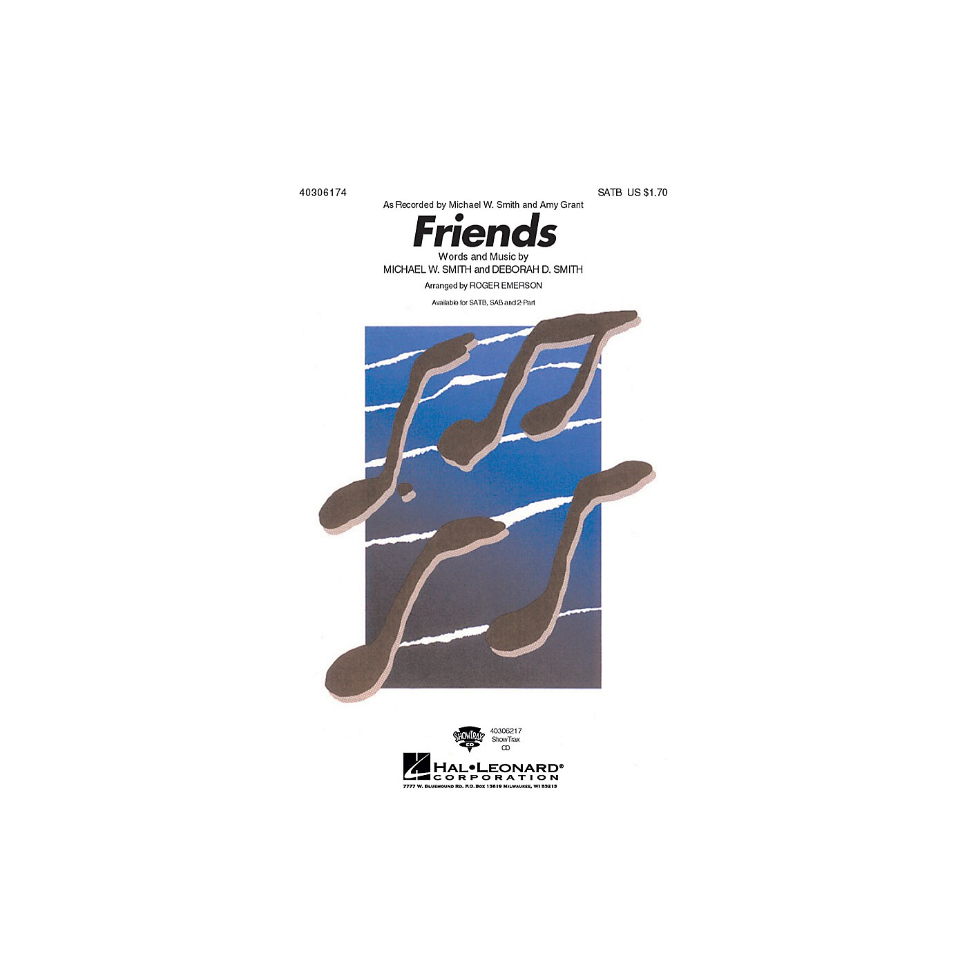 Hal Leonard Friends 2-Part by Michael W. Smith Arranged by Roger Emerson thumbnail