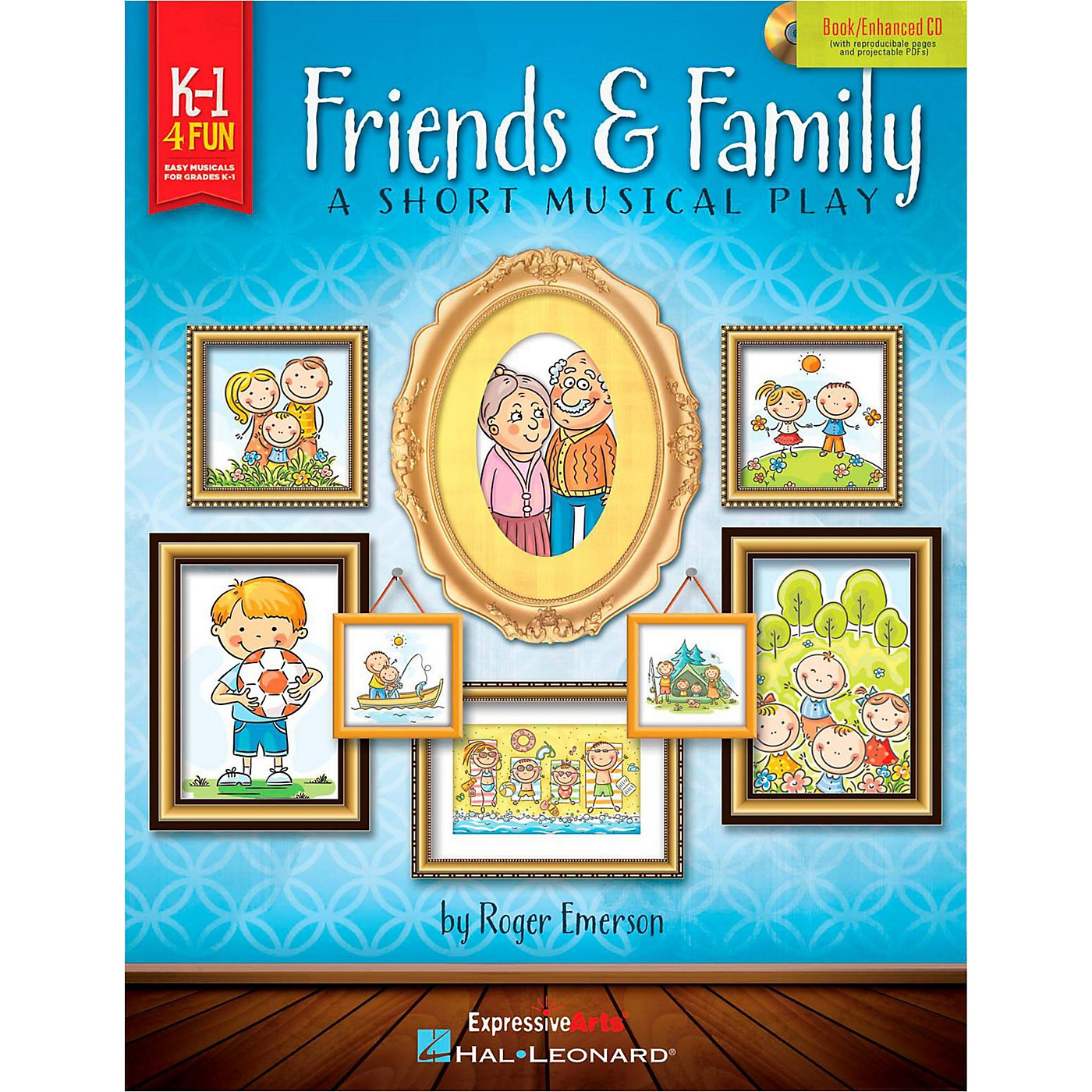 Hal Leonard Friends & Family - A Short Musical Play for Very Young Voices Book/Enhanced CD thumbnail