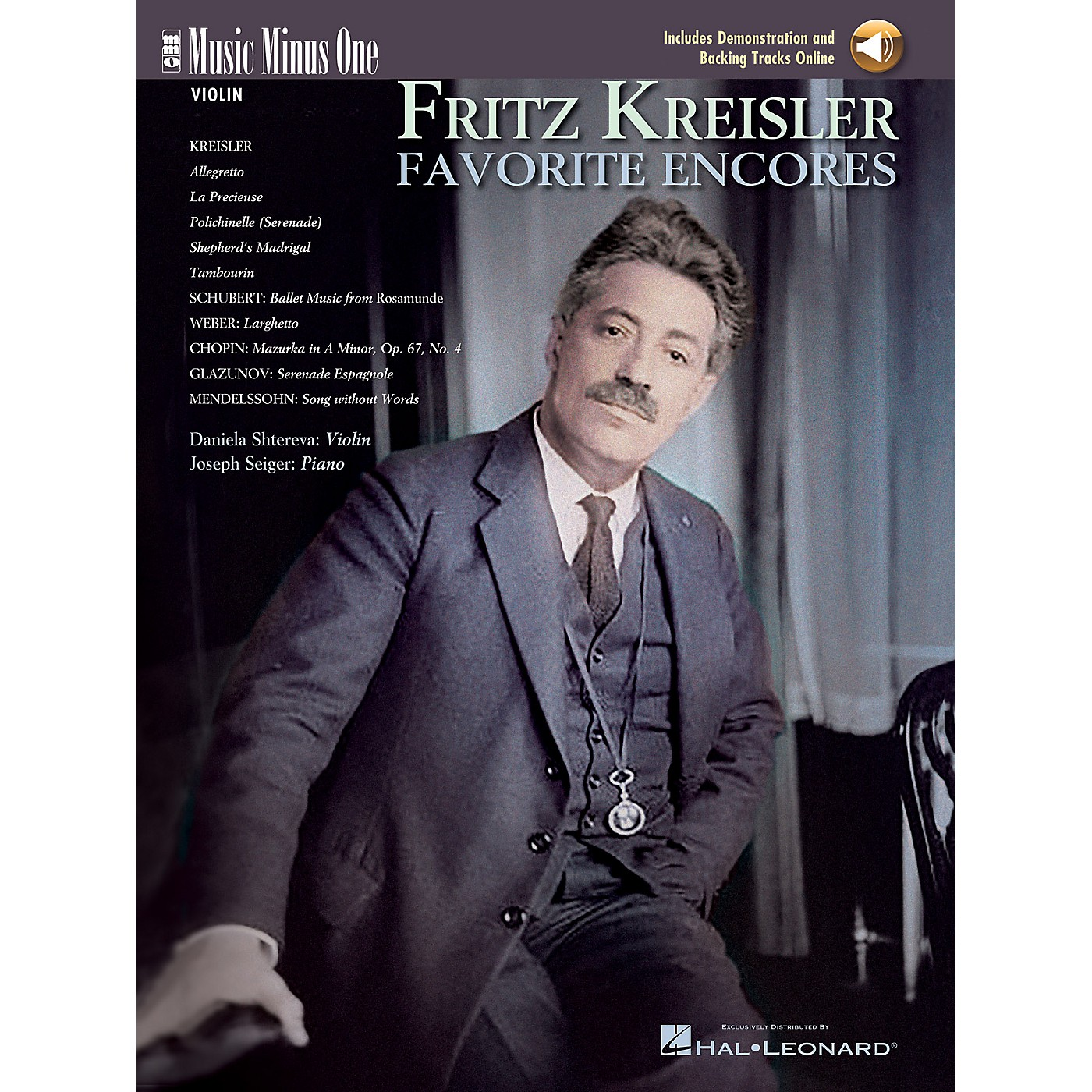 Music Minus One Fritz Kreisler - Favorite Encores (Deluxe 2-CD Set) Music Minus One Series Softcover with CD thumbnail