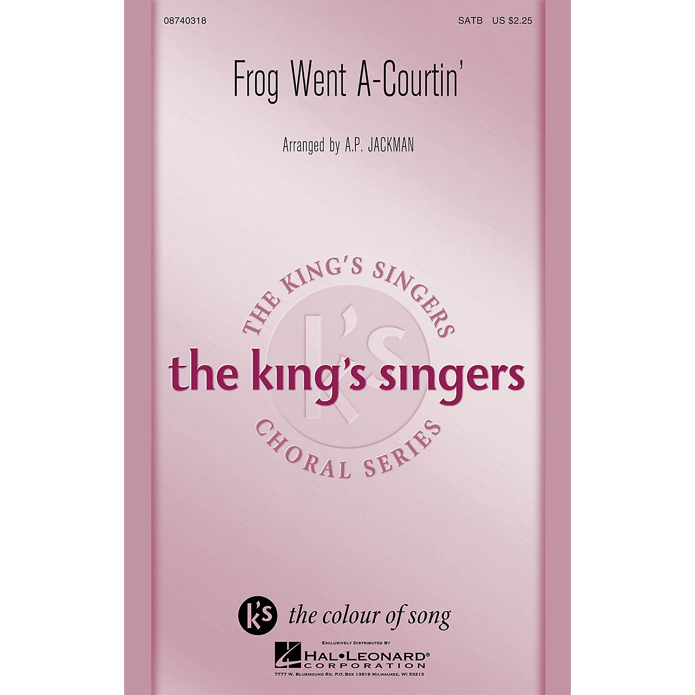 Hal Leonard Frog Went A-Courtin' SATB by The King's Singers arranged by A.P. Jackman thumbnail