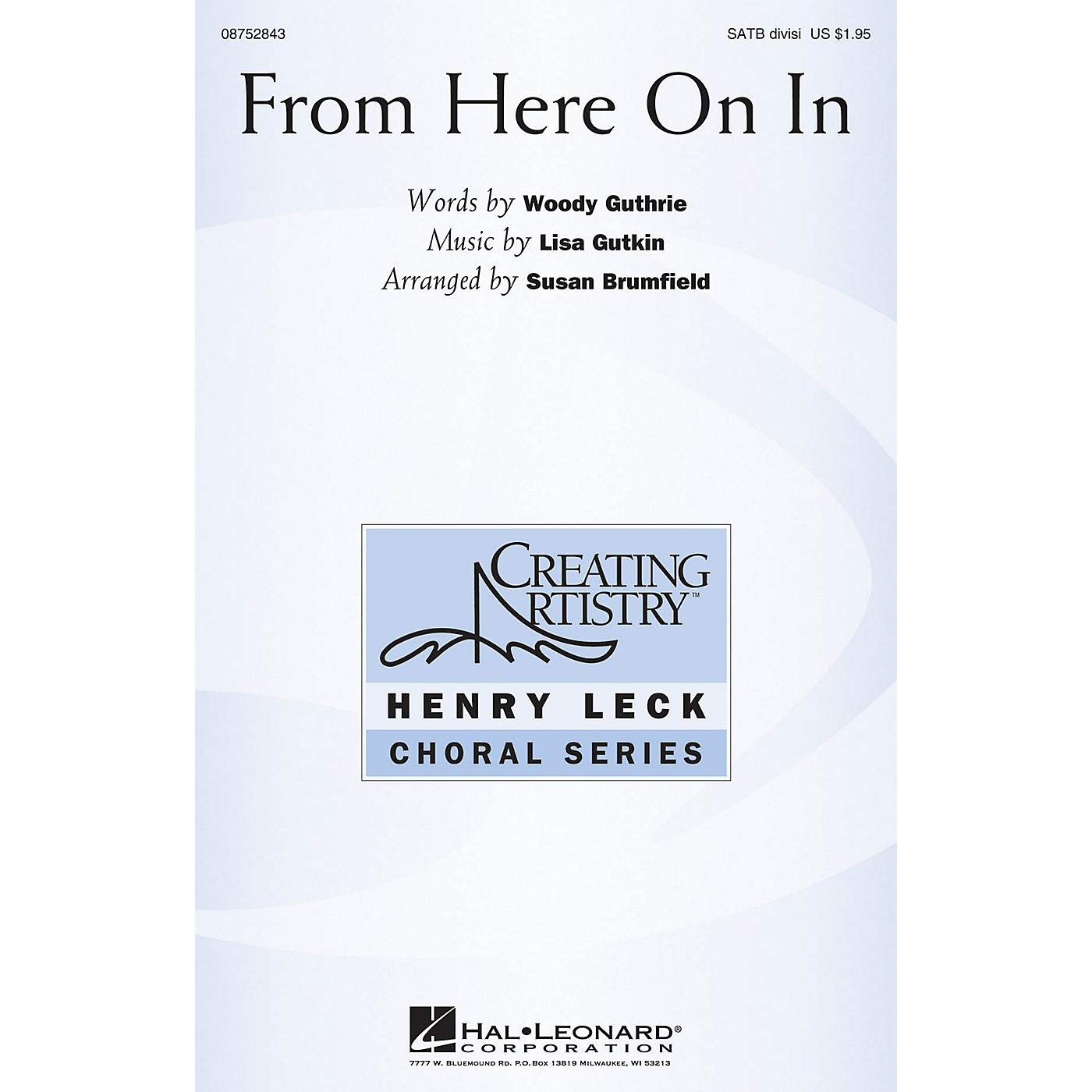 Hal Leonard From Here On In SATB Chorus and Solo by The Klezmatics arranged by Susan Brumfield thumbnail