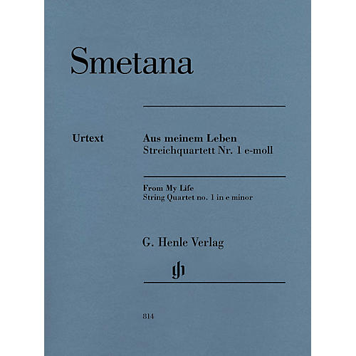 G. Henle Verlag From My Life - String Quartet No. 1 in E Minor Henle Music by Bedrich Smetana Edited by Milan Pospisil thumbnail