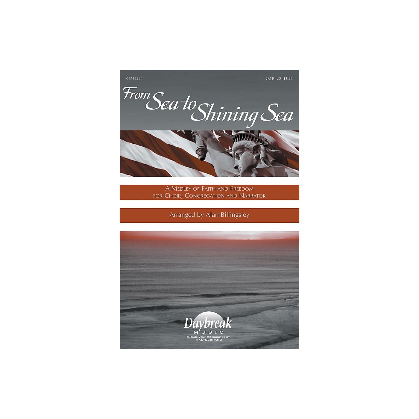 Hal Leonard From Sea to Shining Sea (A Medley of Faith and Freedom for Choir) SATB arranged by Alan Billingsley thumbnail