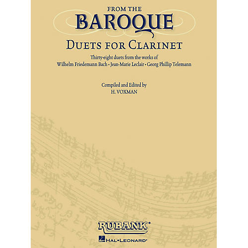 Rubank Publications From the Baroque (Duets for Clarinet) Ensemble Collection Series Softcover thumbnail