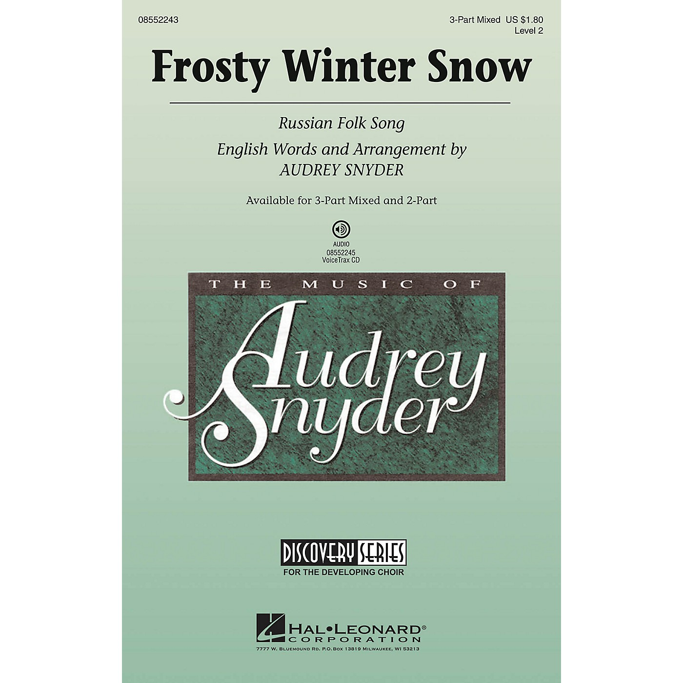 Hal Leonard Frosty Winter Snow (Russian Folk Song) Discovery Level 2 2-Part Arranged by Audrey Snyder thumbnail