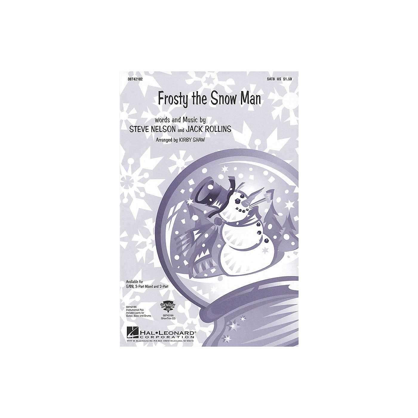 Hal Leonard Frosty the Snow Man (SATB) SATB arranged by Kirby Shaw thumbnail
