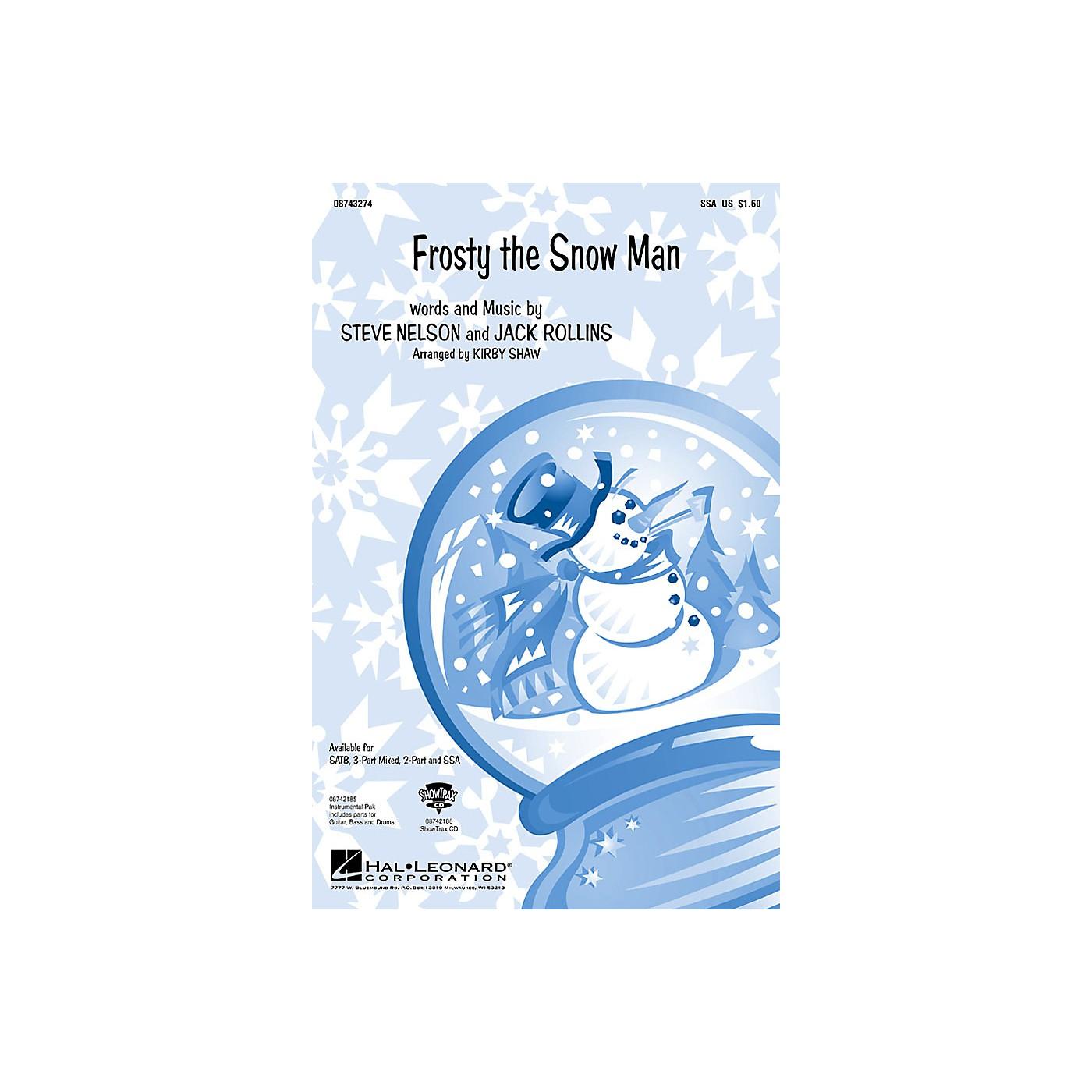 Hal Leonard Frosty the Snow Man (SSA) SSA arranged by Kirby Shaw thumbnail