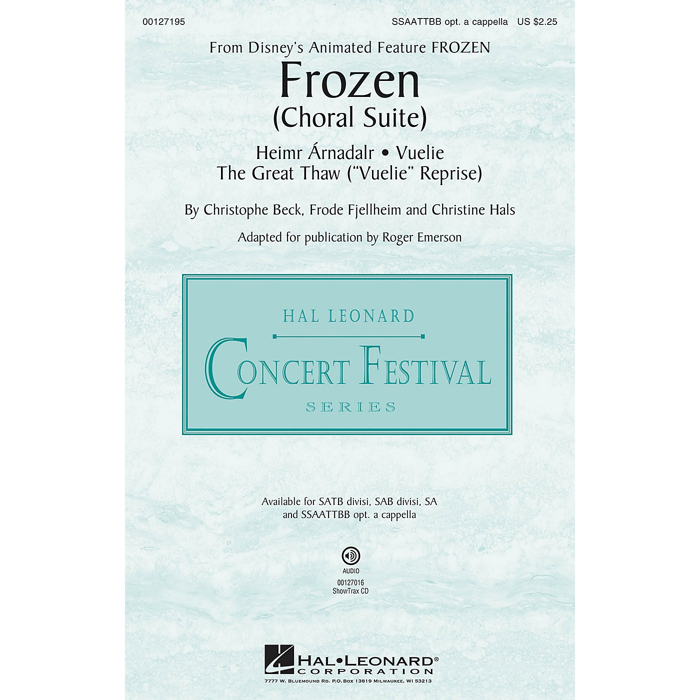 Hal Leonard Frozen (Choral Suite) SSAATTBB composed by Christophe Beck thumbnail