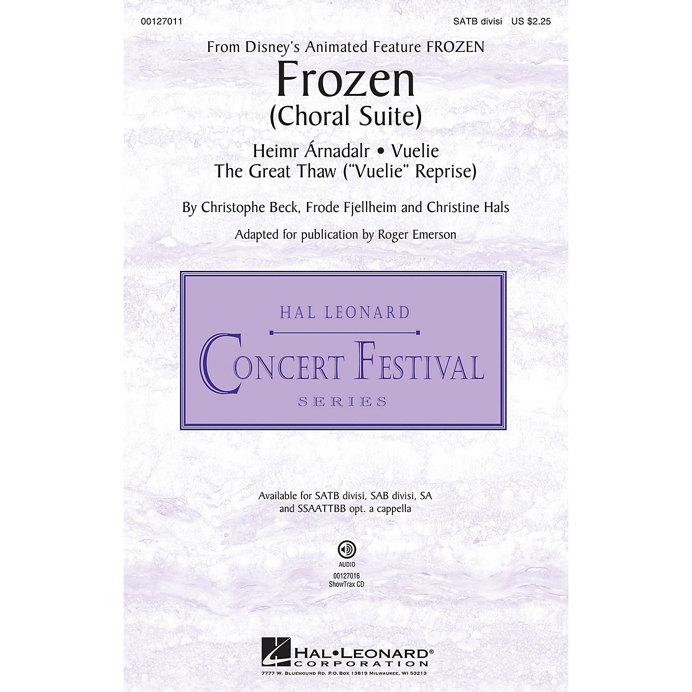 Hal Leonard Frozen (Choral Suite) ShowTrax CD Composed by Christophe Beck thumbnail