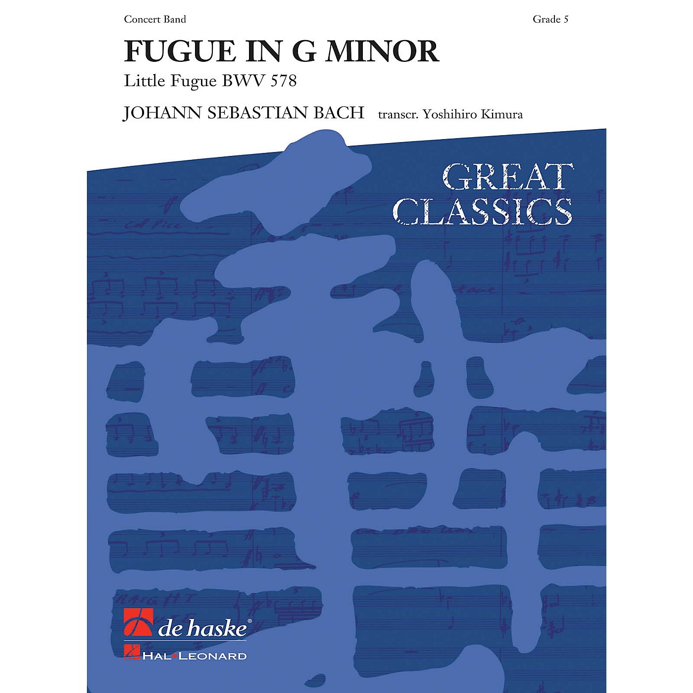 Hal Leonard Fugue In G Minor Score Only Concert Band thumbnail