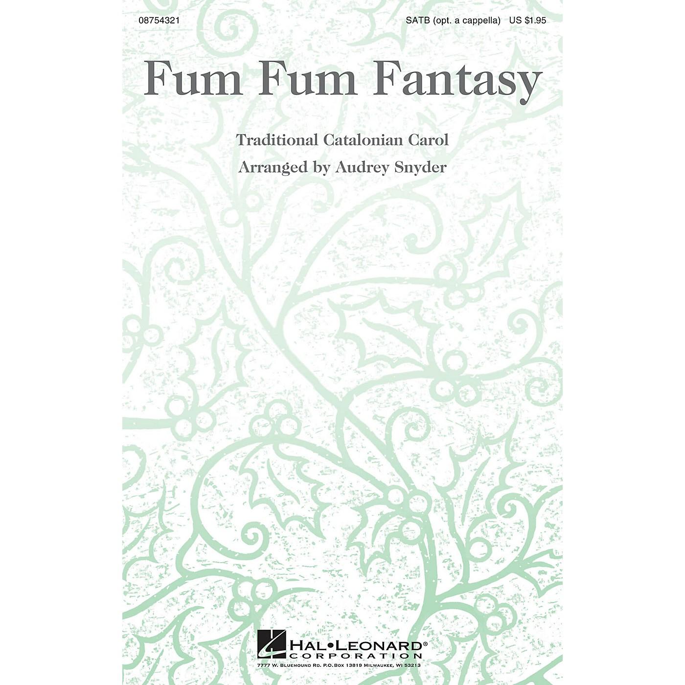 Hal Leonard Fum Fum Fantasy SATB arranged by Audrey Snyder thumbnail