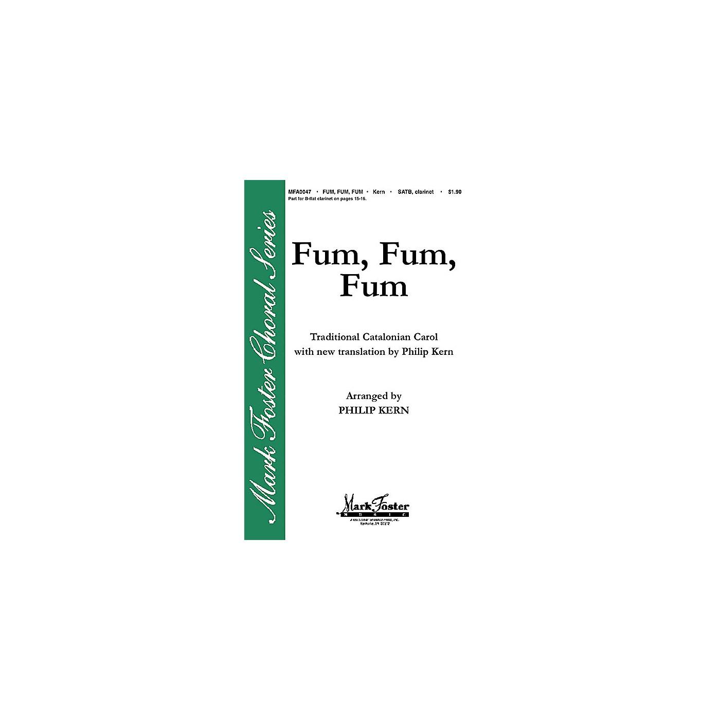 Shawnee Press Fum, Fum, Fum SATB arranged by Philip Kern thumbnail
