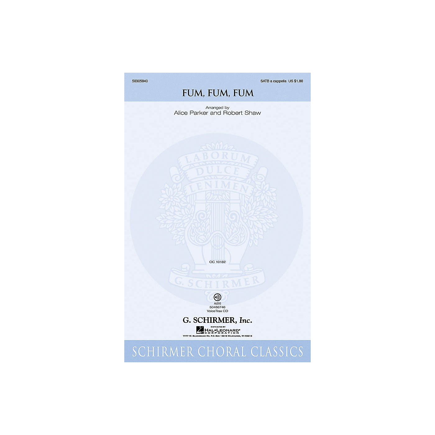 G. Schirmer Fum, Fum, Fum VoiceTrax CD Composed by Traditional Catalan Carol thumbnail