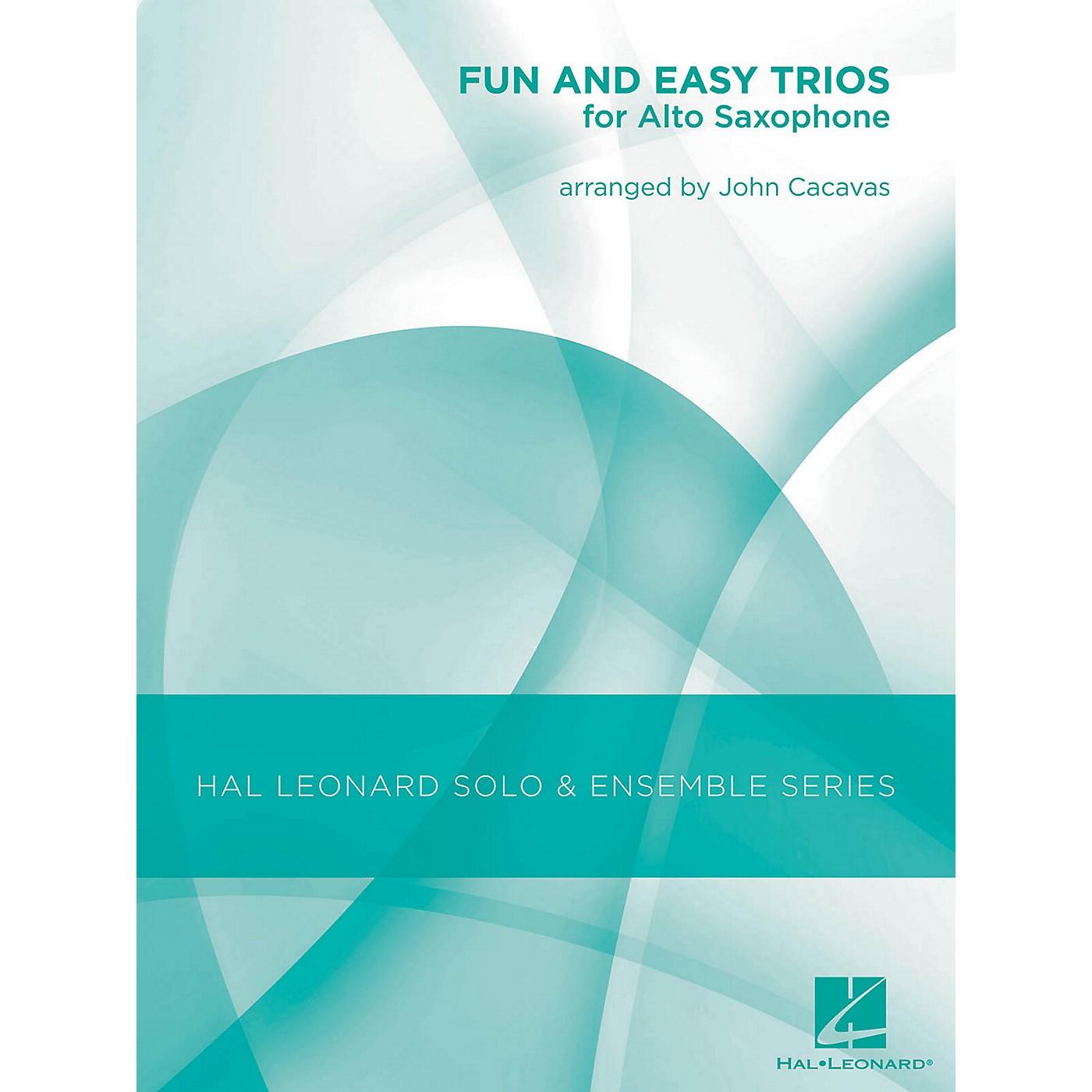 Hal Leonard Fun & Easy Trios for Alto Sax - Hal Leonard Solo & Ensemble Series Arranged By John Cacavas thumbnail