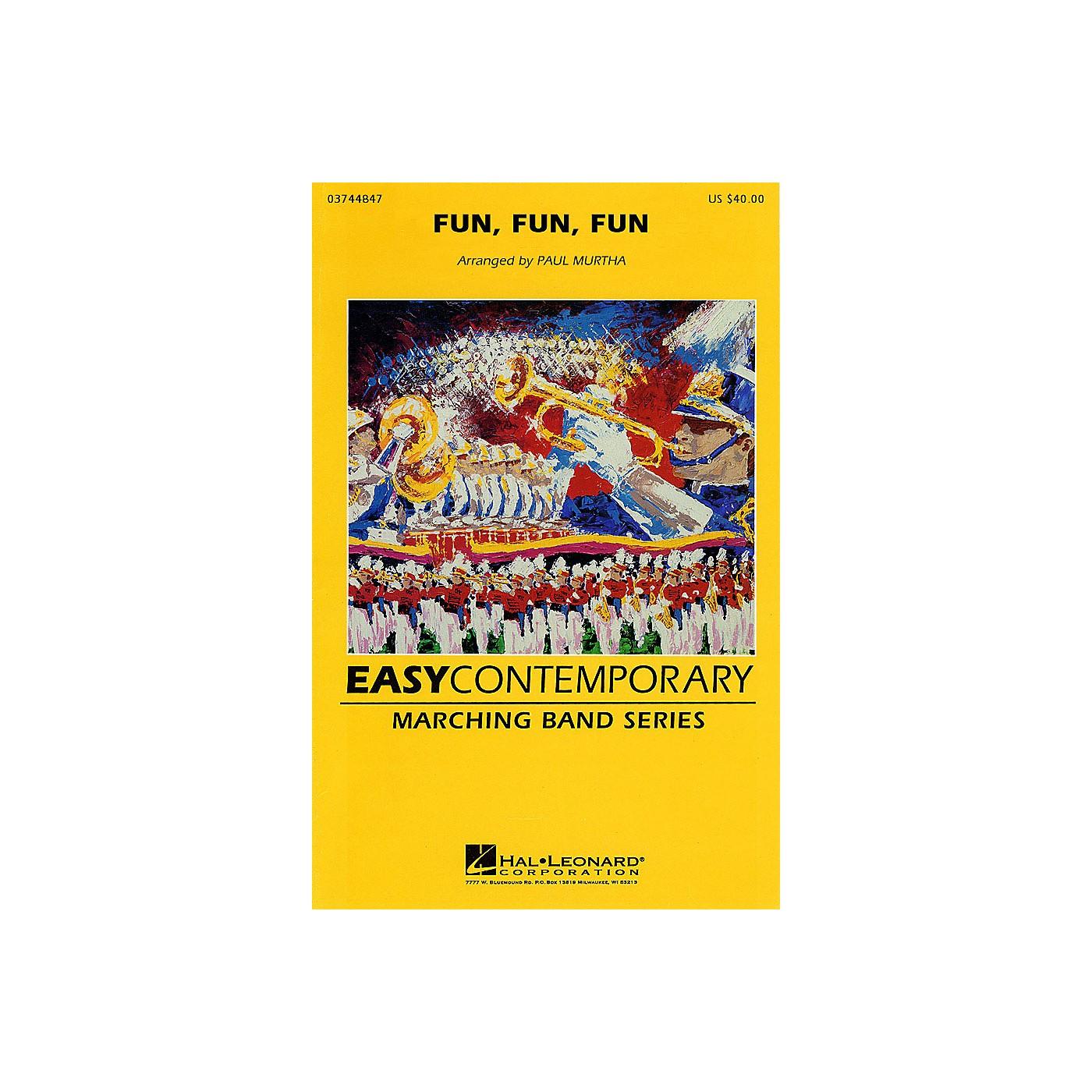 Hal Leonard Fun, Fun, Fun Marching Band Level 2-3 by The Beach Boys Arranged by Paul Murtha thumbnail