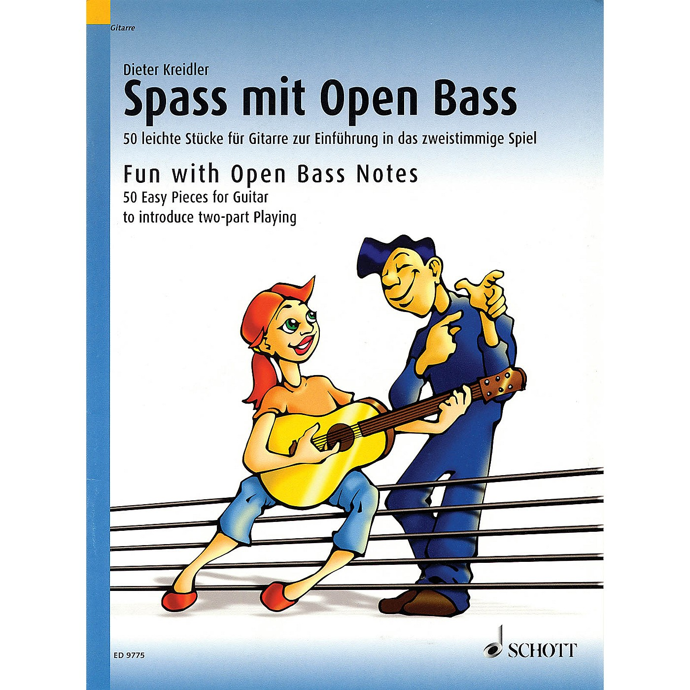 Schott Fun With Open Bass Notes (50 Easy Pieces for Guitar to introduce two-part playing) Schott Series thumbnail
