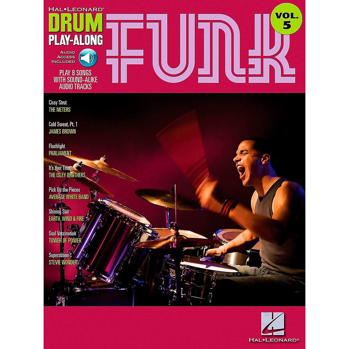 Hal Leonard Funk Drum Play-Along Volume 5 Songbook with CD thumbnail