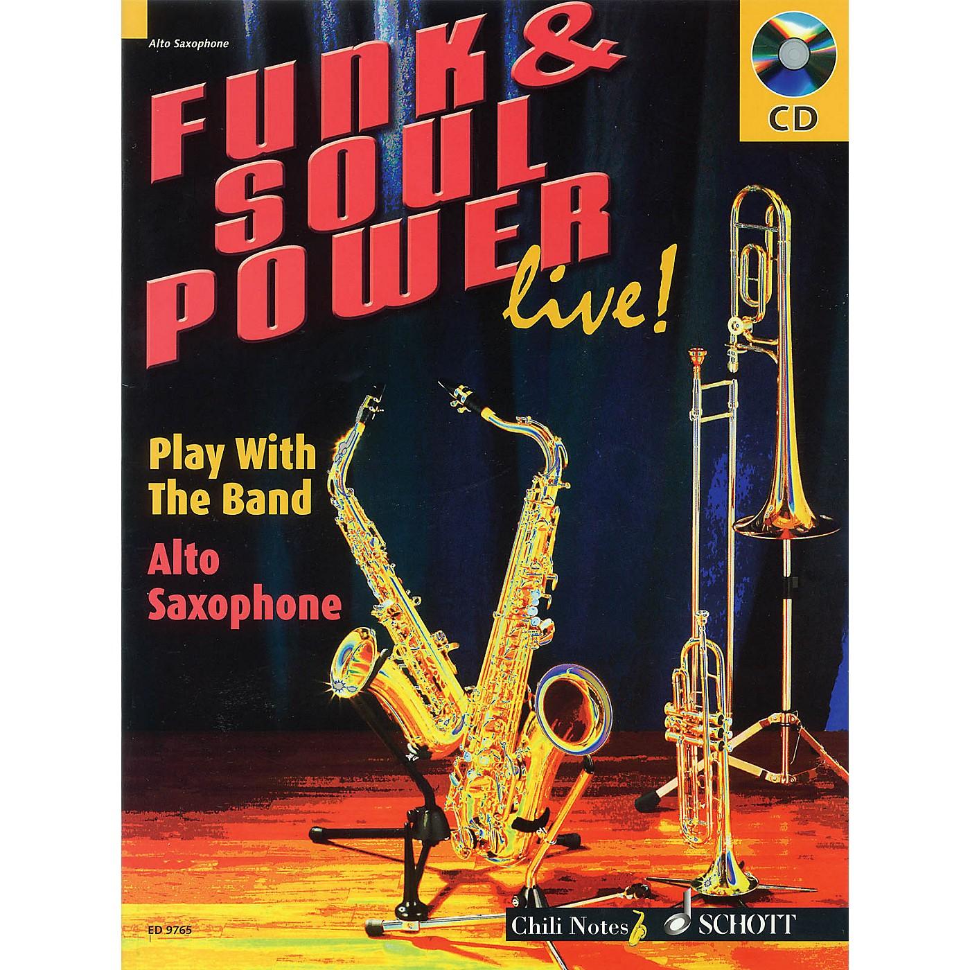 Schott Funk & Soul Power Live! Misc Series Book with CD Written by Gernot Dechert thumbnail