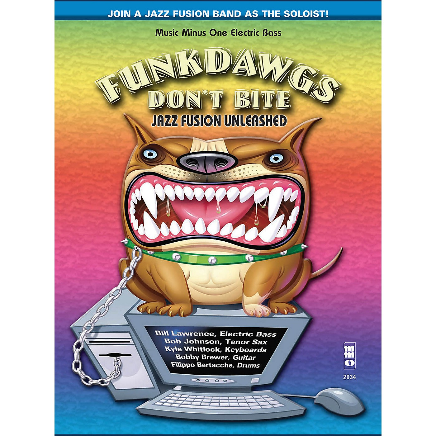 Music Minus One Funkdawgs Don't Bite - Jazz Fusion Unleashed (Electric Bass) Music Minus One Series Softcover with CD thumbnail